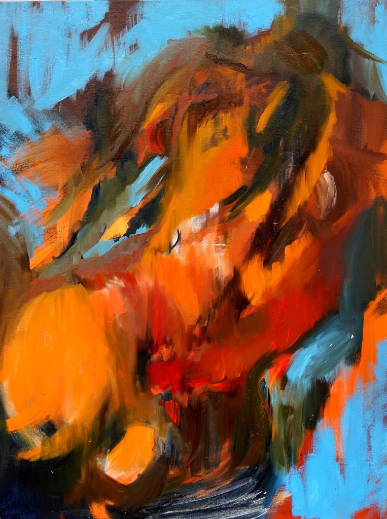Rock in Cherrapunjee - Méghálaja oil on canvas 2016