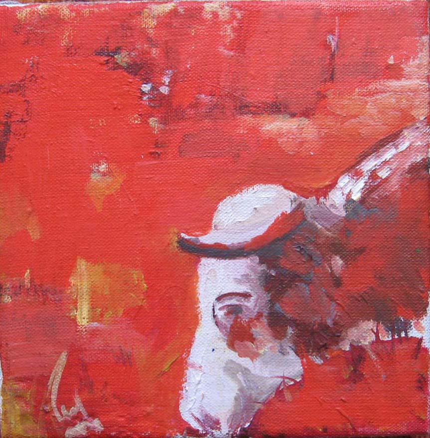 Červená kráva/Red cow 2008
