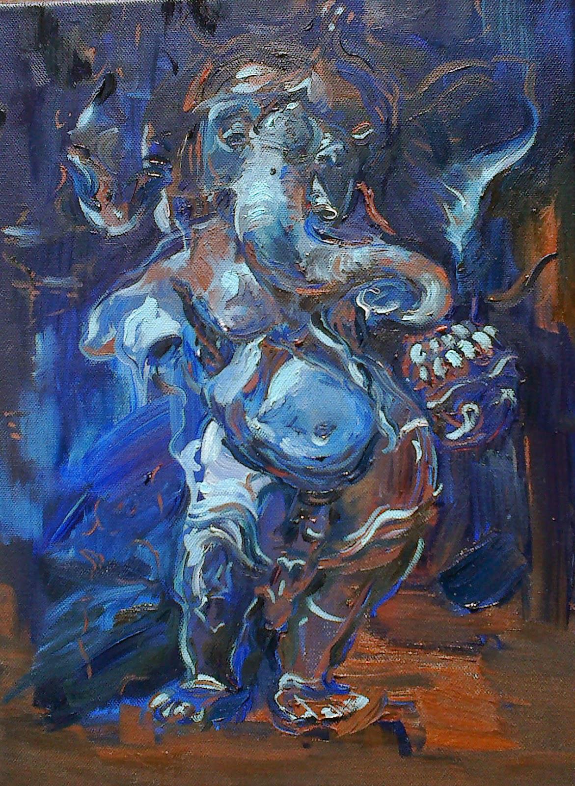 Ganesha 2013 oil on canvas